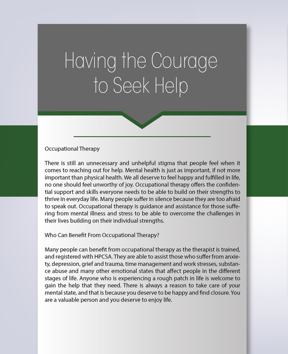 Having the courage to seek help
